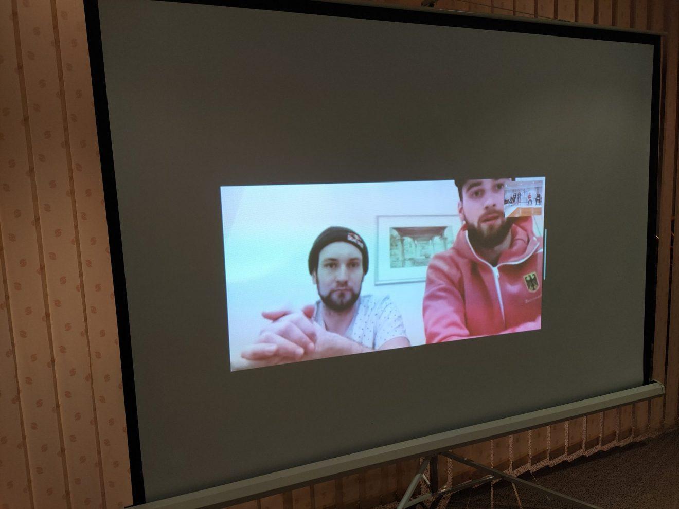 Videomeeting mit den Skullern der A-Nationalmannschaft