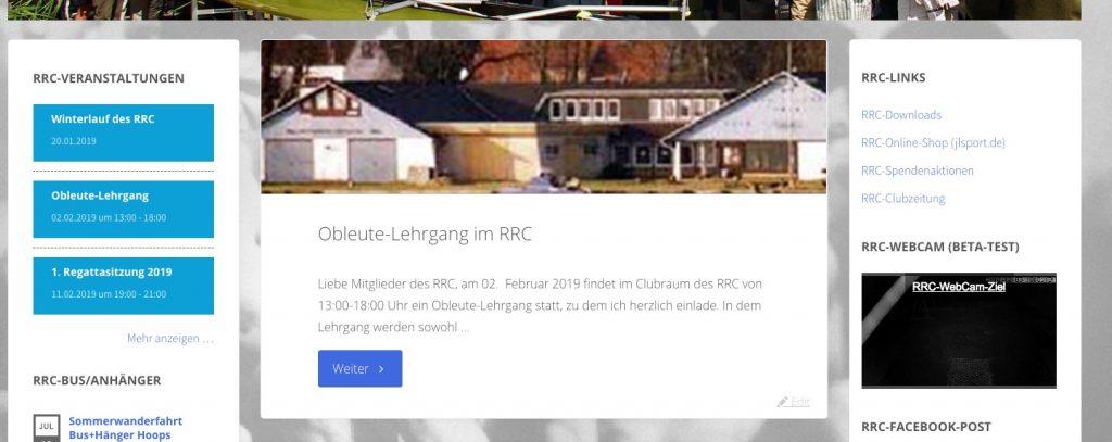 Neue Live-Stream jetzt in der rechten Sidebar unter RRC-Links verfügbar.